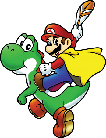 Www Superluigibros Com Super Mario World Artwork Mario And Yoshi