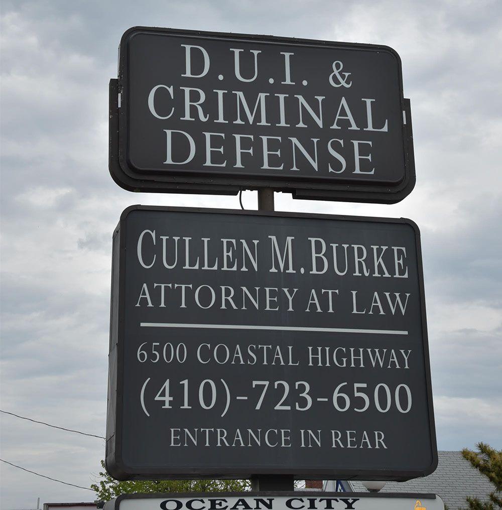 Cullen M. Burke Criminal Defense Lawyer in Ocean City