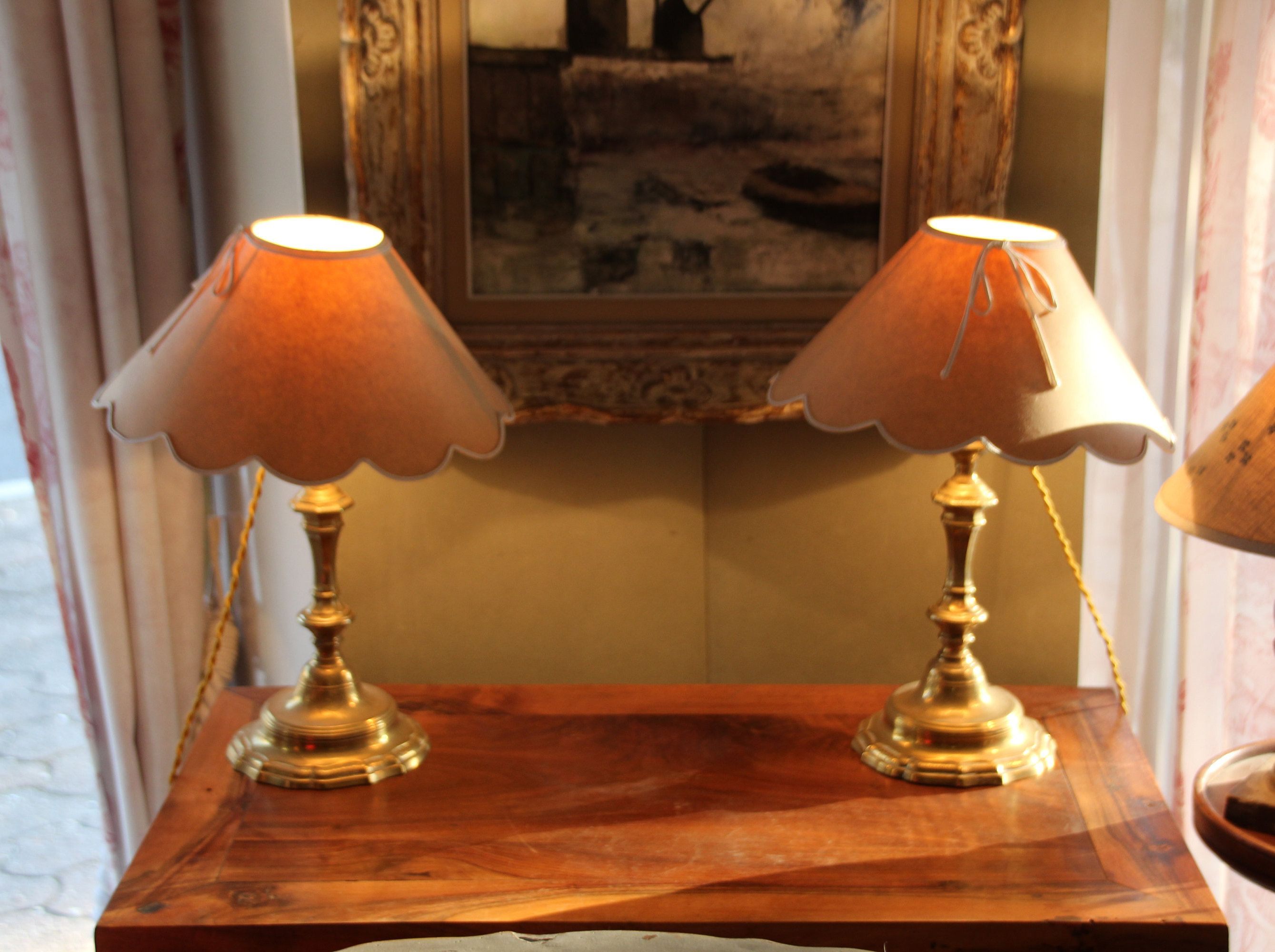 Table Lamps French Antique Lamp Pair Of Lamps Desk Lamp Lamp Shade Vintage Lamp Candlesticks Shabby Chic Home Decor Lamp Light Antique Lamps Vintage Lamps Shabby Chic Homes
