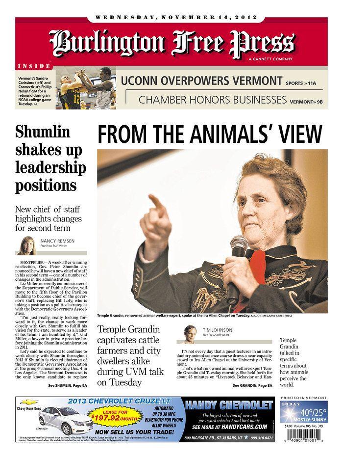 Today S Free Press Front Page Http Www Burlingtonfreepress Com Burlington Pressing Chief Of Staff