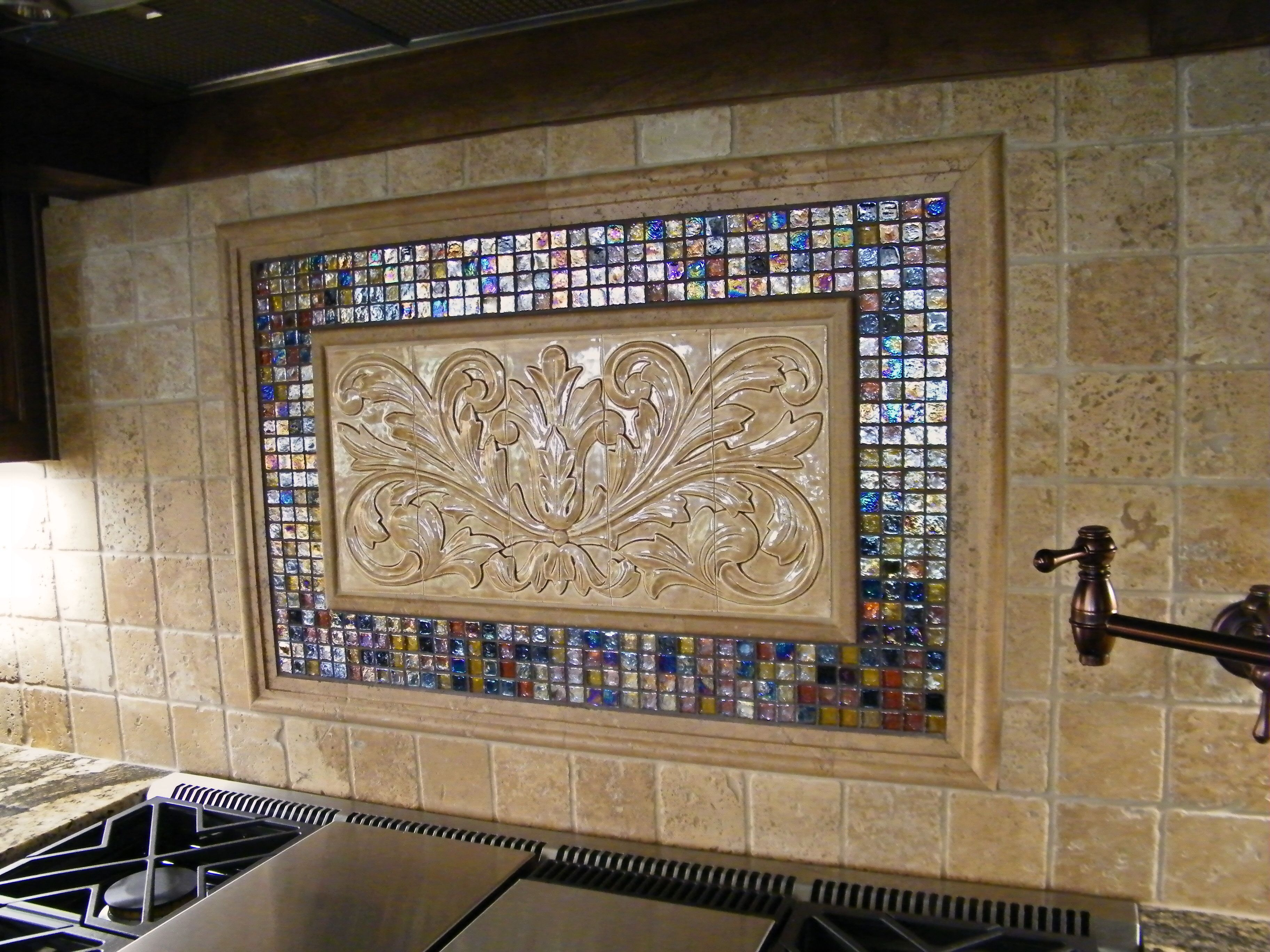 large hand pressed decorative tiles by