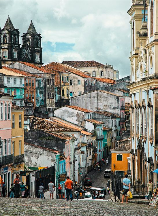 the busy streets of Brazil