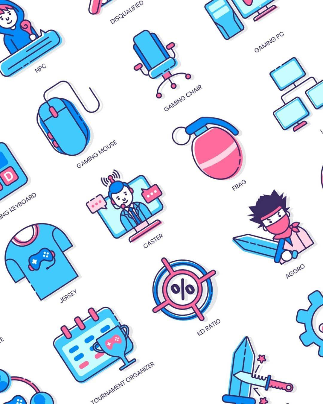 """2019 的 UI8 on Instagram: """"Esports & Gaming Icons   Malibu"""