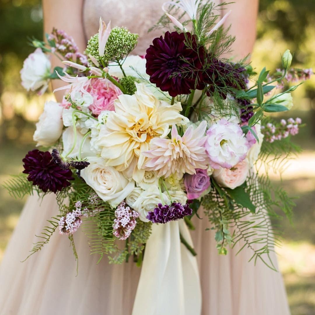 Garden spring bridal bouquet featuring cafe au lait