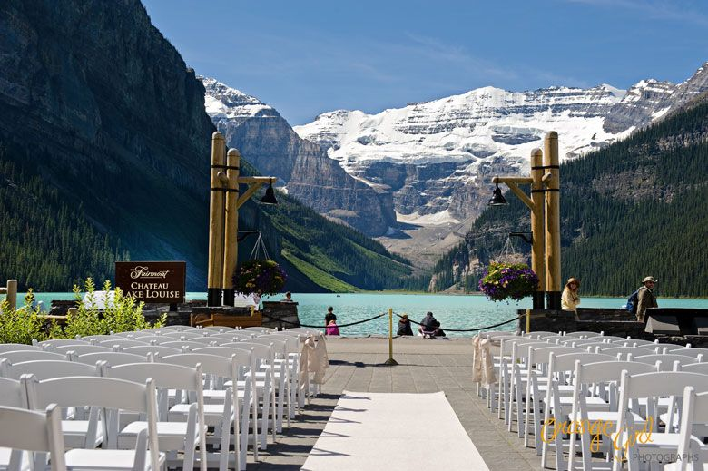Fairmont Cau Lake Louise The Terrace Set Up For A Wedding Ceremony Photo By