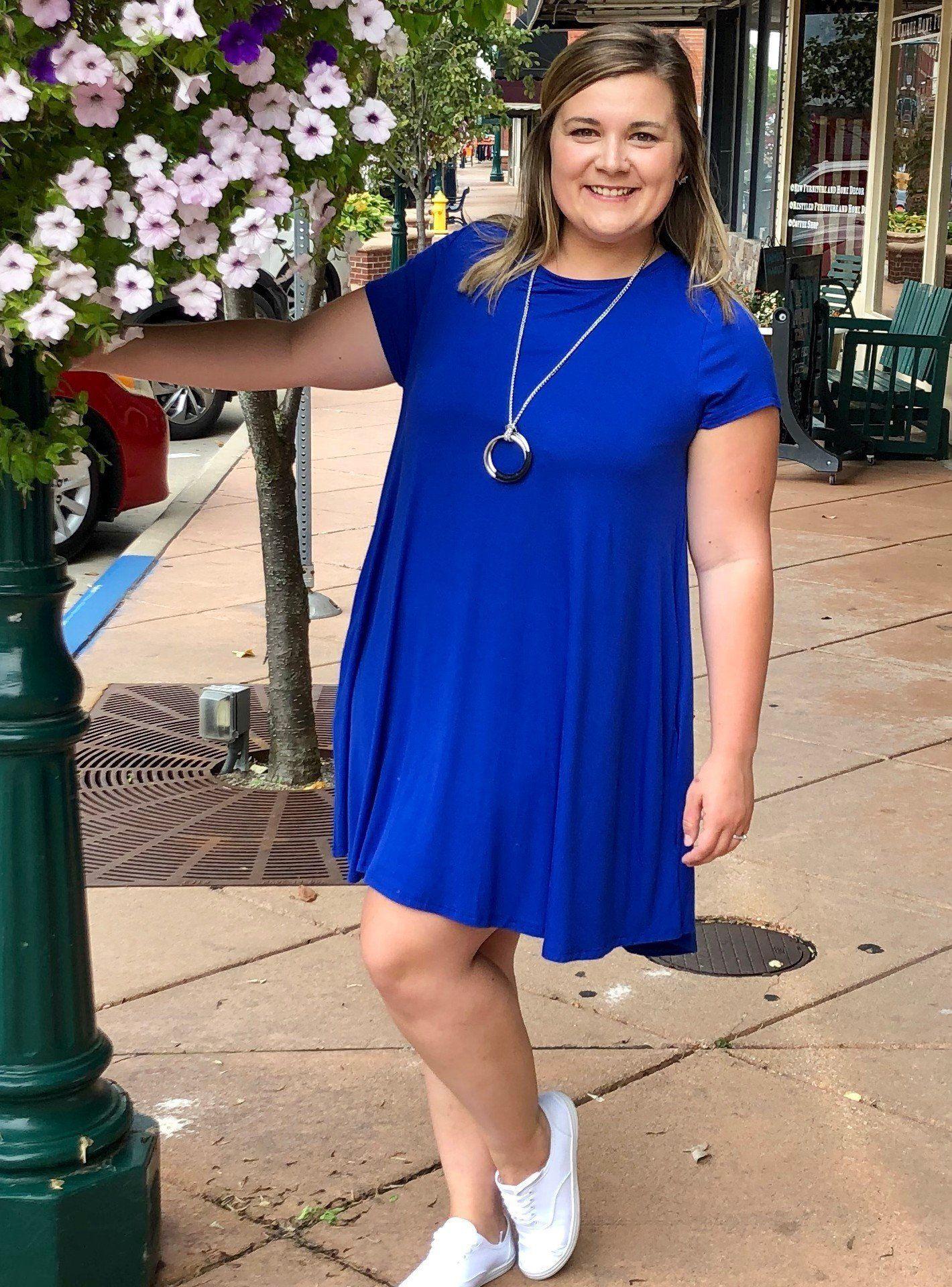 Short Sleeve Pocket Tee Cobalt Dress #cobaltdress Short Sleeve Pocket Tee Cobalt Dress #cobaltdress