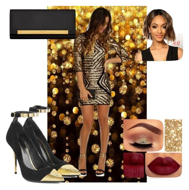 """""""New Years Eve Outfit"""" by freespirit1177 ❤ liked on Polyvore featuring moda, Balmain, Yves Saint Laurent, women's clothing, women, female, woman, misses e juniors"""