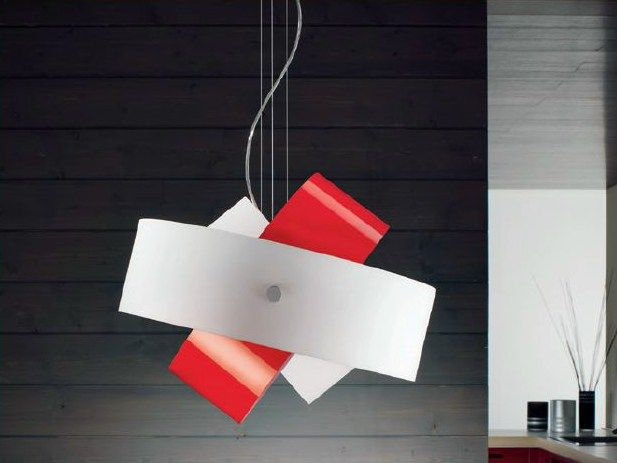 Blown glass pendant lamp TOURBILLON Tourbillon Collection by PANZERI | design Enzo Panzeri