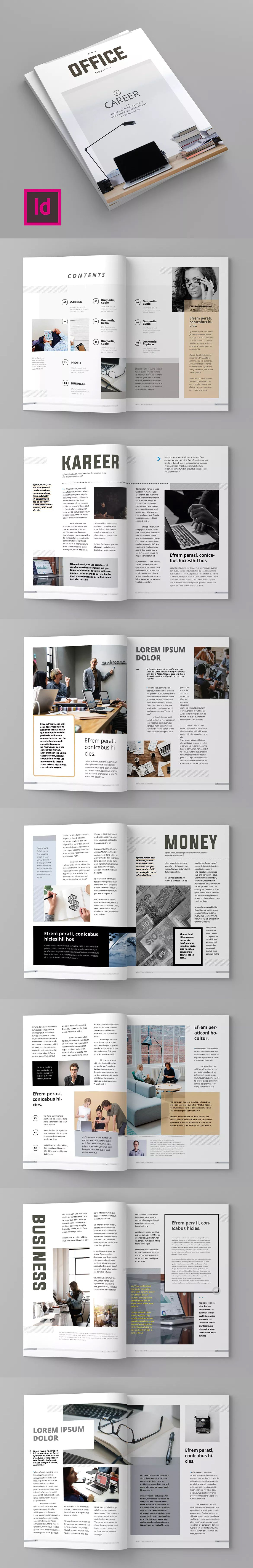 Magazine Template Indesign Indd Magazine Template Templates Cool Magazine