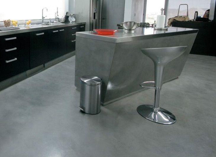 pin de aldana en piso cemento alisado pisos de cocina y