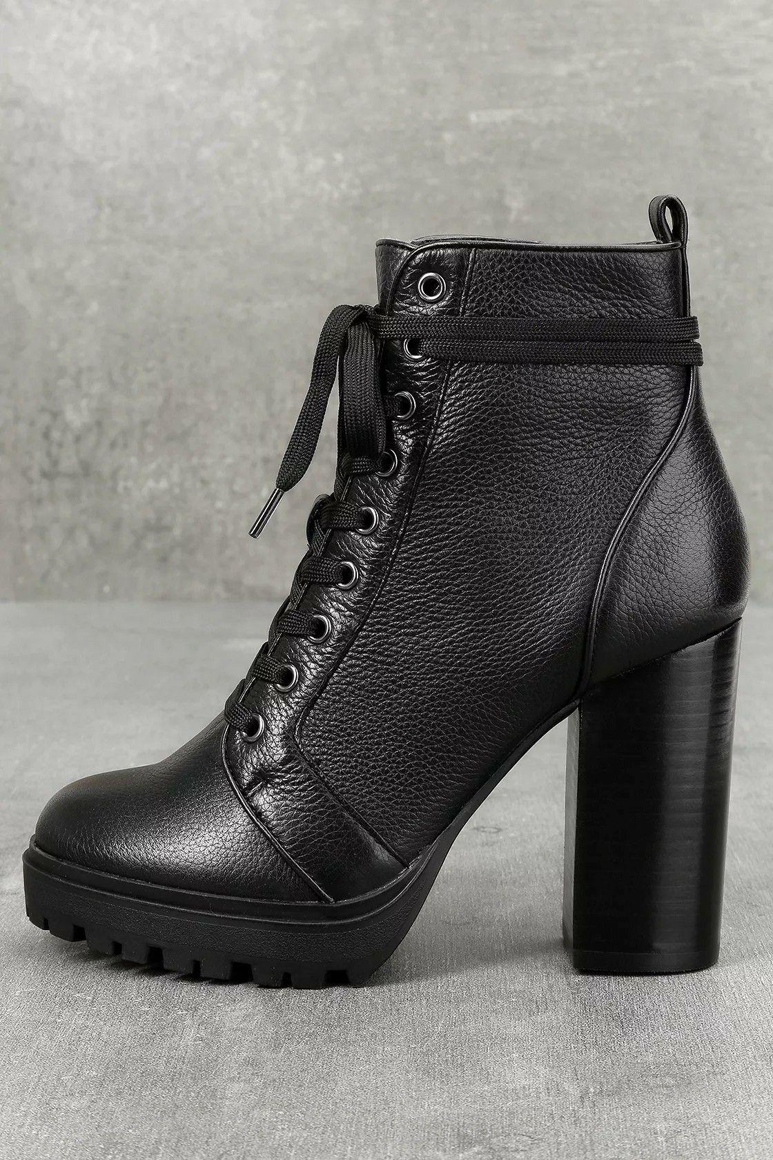 5339b9806eb Steve Madden Laurie | wardrobe. | Leather, lace, Black platform ...