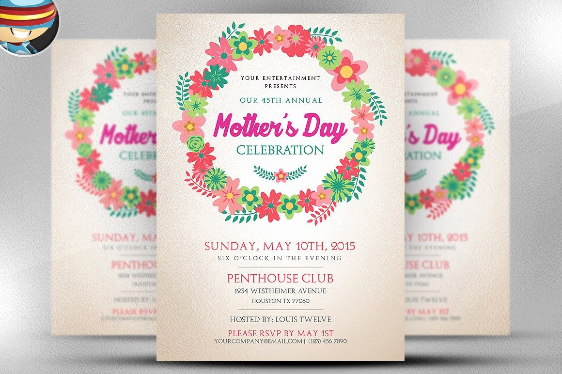 Mother Day Card Template Word Elegant Mother S Day Flyer Template Flyer Templates On Creative Mothers Day Card Template Flyer Template Flyer