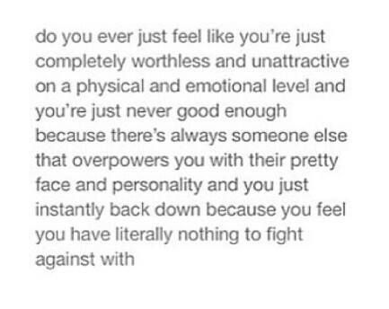 I can so relate. I feel like this all the time :(