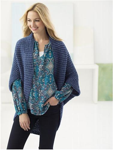 Easy Crochet Shrug - free pattern by Kaz for Lion Brand | Crochet ...