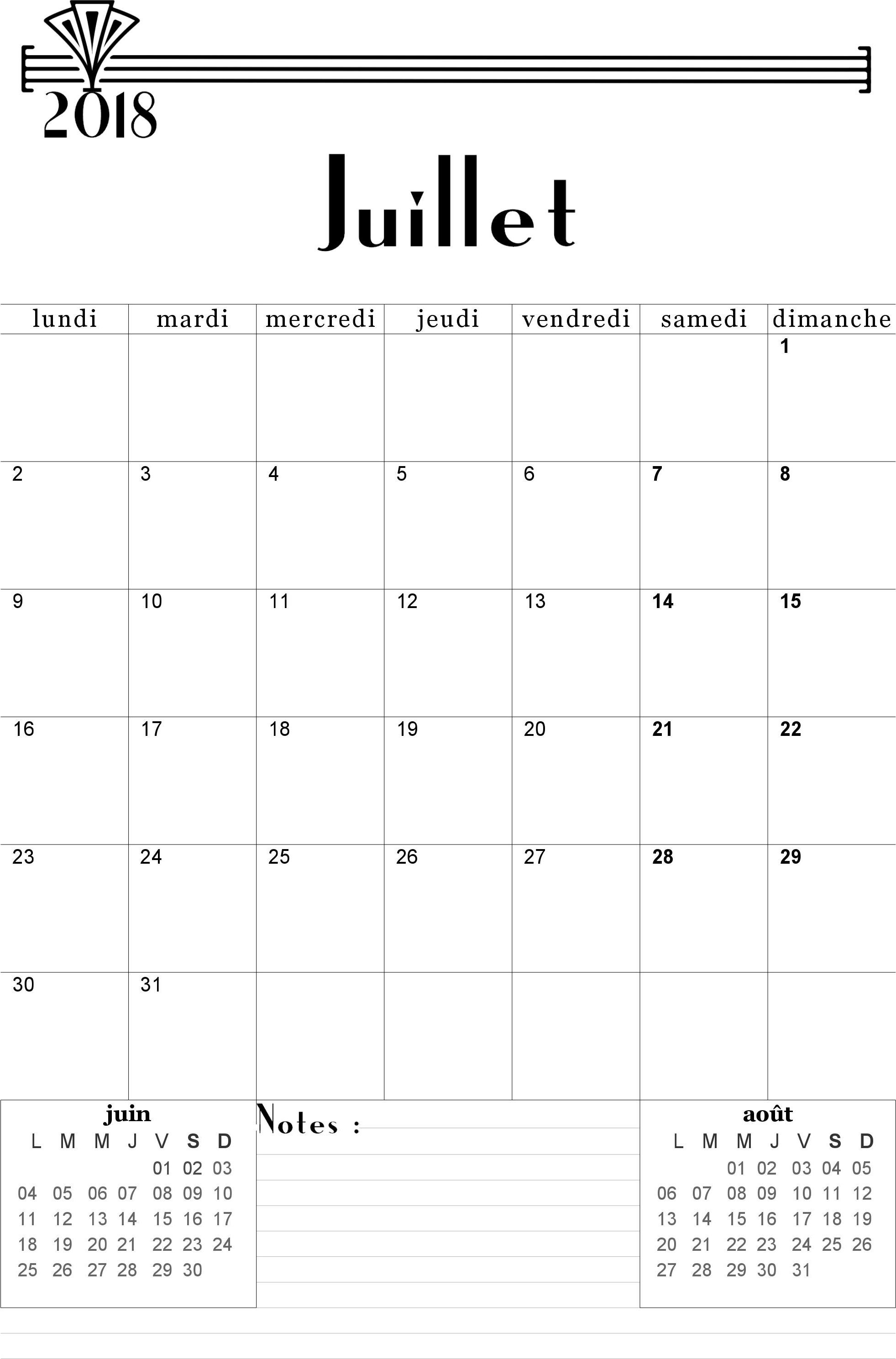 calendrier juillet 2018 planner pinterest diy agenda welcome july et bullet journal. Black Bedroom Furniture Sets. Home Design Ideas