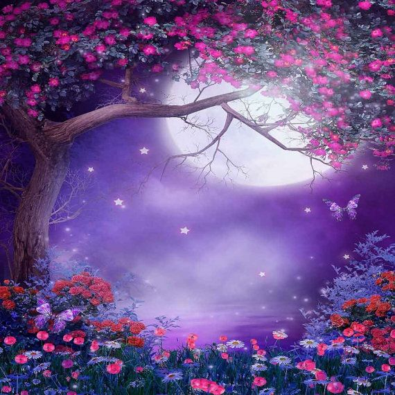 Pretty Flower And Moon 10ft X 10ft Backdrop Computer By Gladsbuy Beautiful Nature Wallpaper Photography Backdrops Nature Wallpaper