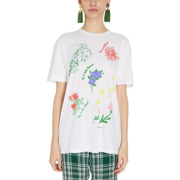 Rosie assoulin 39 s soft white t shirt is splashed with a for How to hand wash white shirt