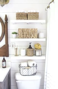see how one blogger maximized space in her small bathroo rh pinterest com