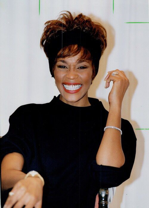 Whitney Houston smiling