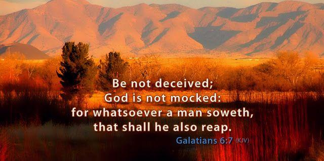 God is not mocked