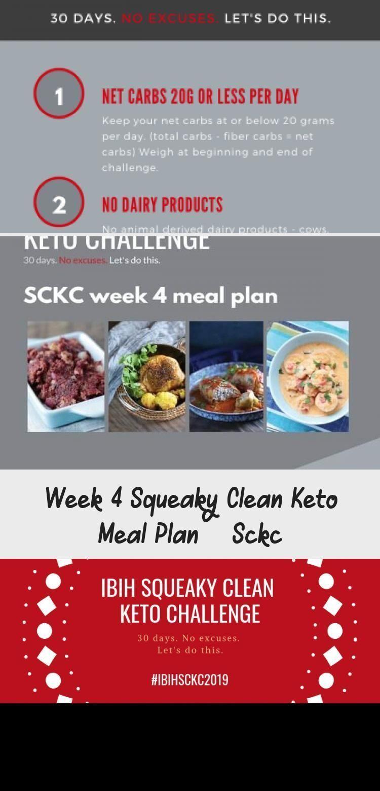 Der Squeaky Clean Keto Meal Plan für diese Woche 4 ist ein anpassbarer KetoMenüplan für die vierte Woche der IBIH Squeaky Clean Keto Challenge SCKC  ein 30...