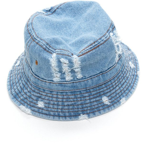 Vacationer Denim Bucket Hat (305 MXN) ❤ liked on Polyvore featuring  accessories dca1aca0349