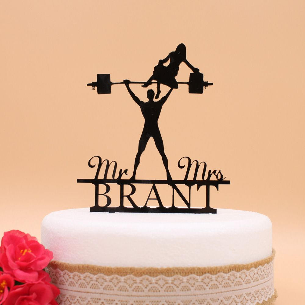 Free Shipping Personalized Wedding Bride & Groom Cake Topper Wedding ...