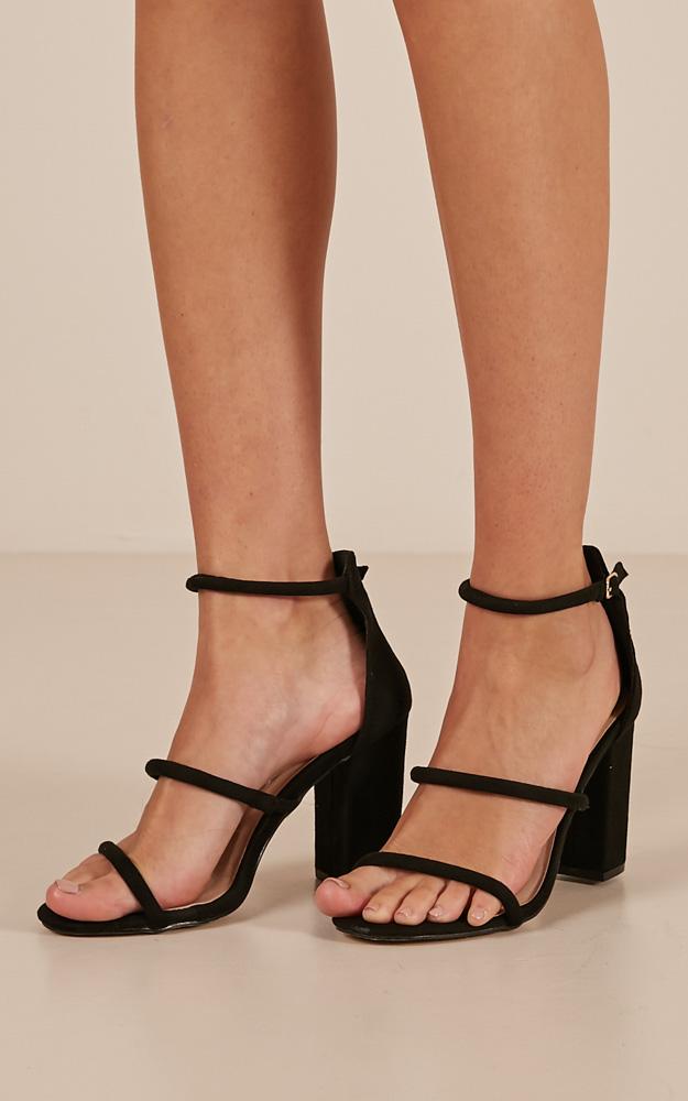 Billini - Ora Heels In Black Nubuck | Showpo