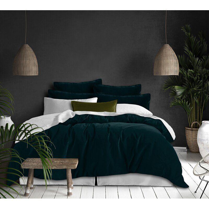 Wade Logan Kendleshire Plush Single Duvet Cover In 2021 Green Master Bedroom Full Duvet Cover Green Bedding