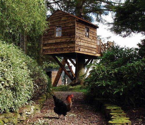 La madera es esencial para estas casas Casas de arbol Pinterest - casas en arboles