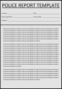 Police Report Template  Az Templates    Template