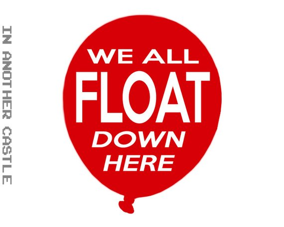 WE ALL FLOAT Auto Decal - Car Sticker For Stephen King Fans