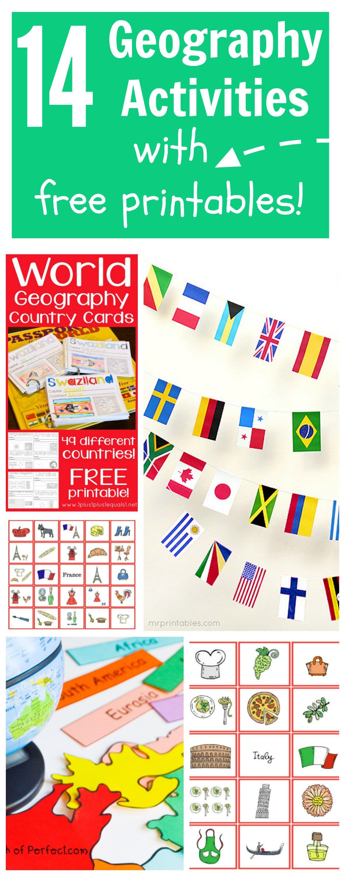 14 Geography Activities With Printables For Kids