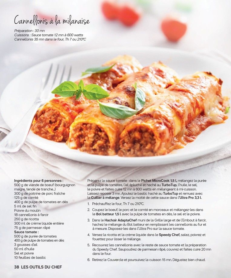 Tupperware cannellonis la milanaise tupperware pinte - Cuisine italienne cannelloni ...