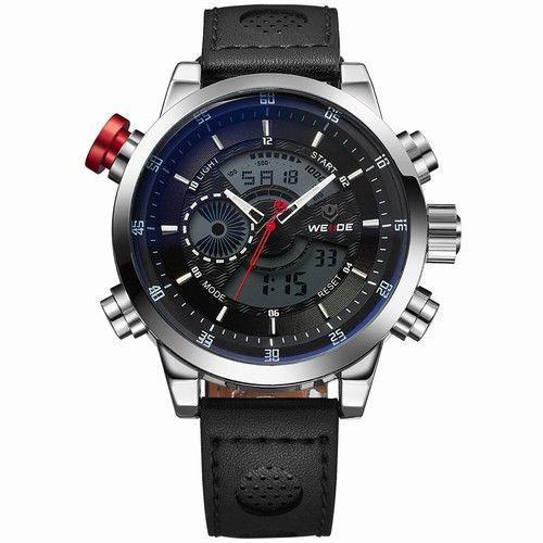 WEIDE Men's Sports Watch Quartz Back Light Wristwatch Military Fashion Casual Dive Watches for Men