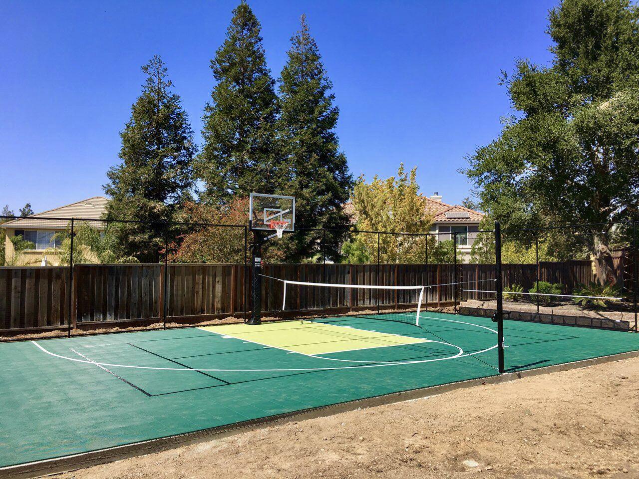 Backyard Sport Court Game Court Backyard Backyard Court Backyard Sports Mini backyard tennis court