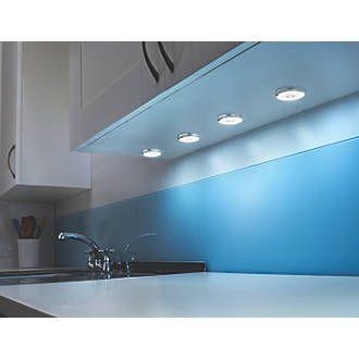 lap circo disk led cabinet downlight chrome plastic chrome effect finish http cabinet lightingkitchen - Kitchen Cabinet Down Lighting