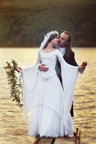 "Seriously. How did I never think to look up ""elvish wedding dresses""? Uh-DOY!"