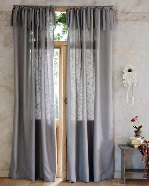 Vorhang Leinenoptik grau Eigene Pinterest Vorhänge, Grau und - vorhange wohnzimmer grau