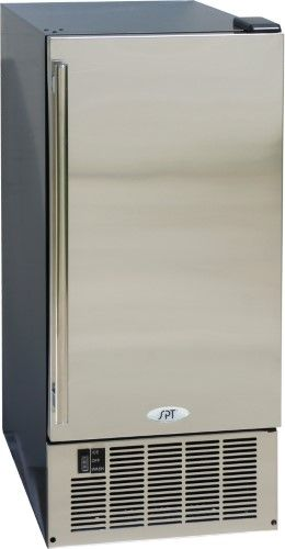 spt stainless steel under counter ice maker as shown products rh pinterest com