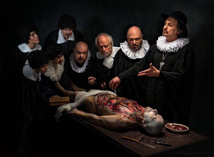 Derek Galon Anatomy Lesson RE: Rembrandt\'s famous painting Anatomy ...