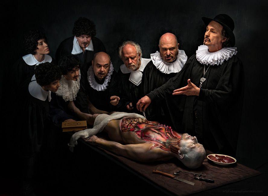 Derek Galon Anatomy Lesson RE: Rembrandt\'s famous painting Anatomy ...