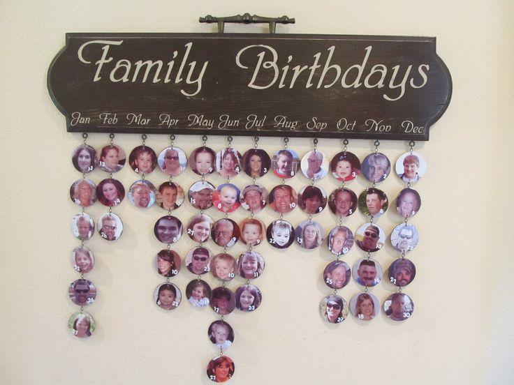Family birthday calendar board family birthday board made for my grandparents
