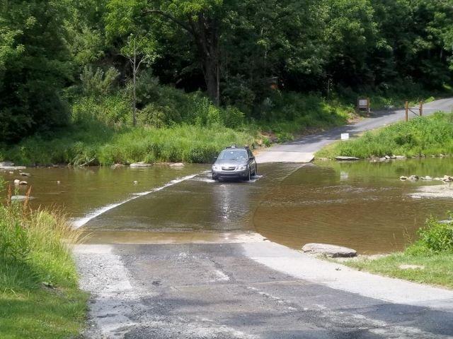 Ford Crossing Of The Jordan Creek At The Trexler Nature Preserve