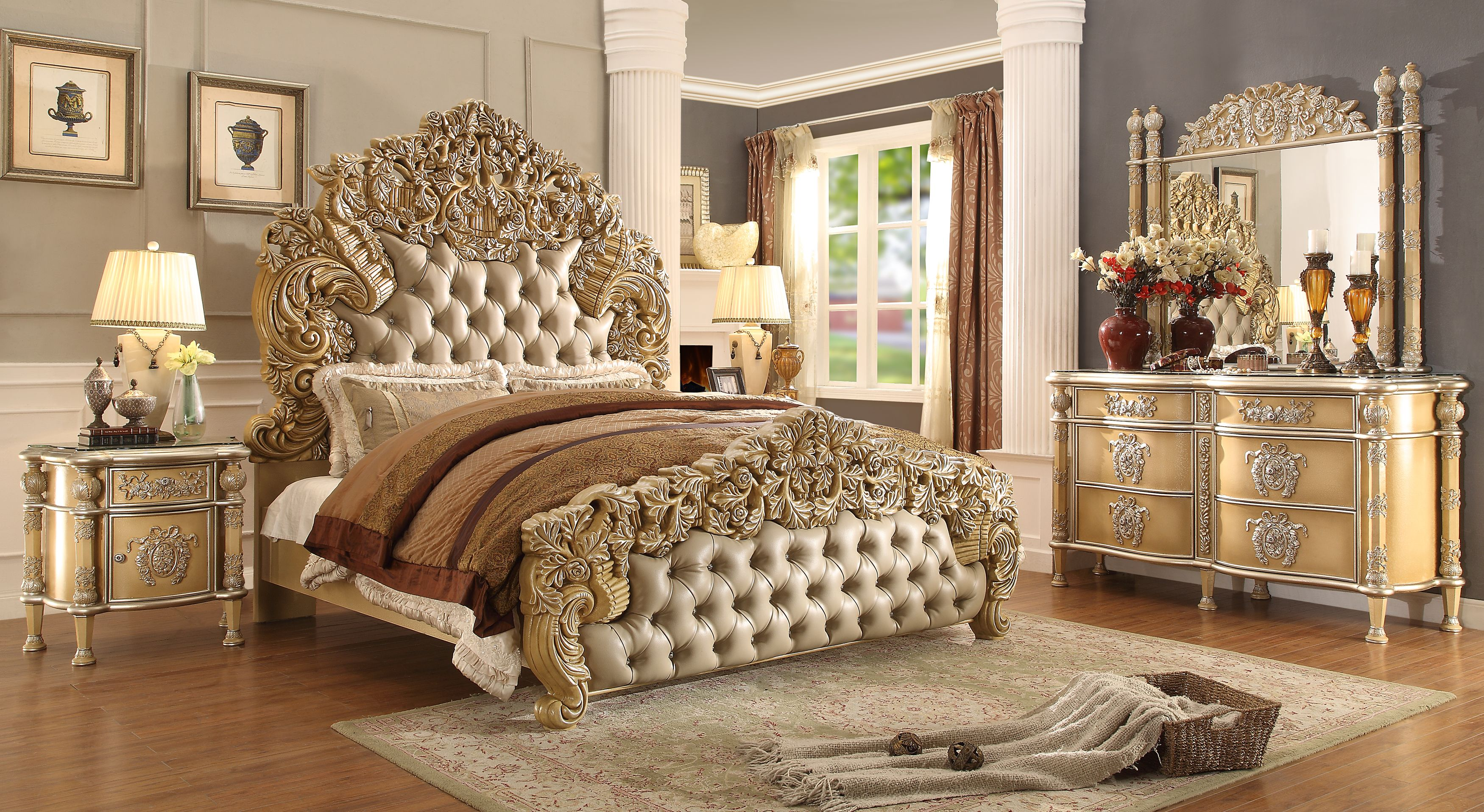 new luxary elegant european button tuft bedroom set king 5 pc hd rh pinterest com