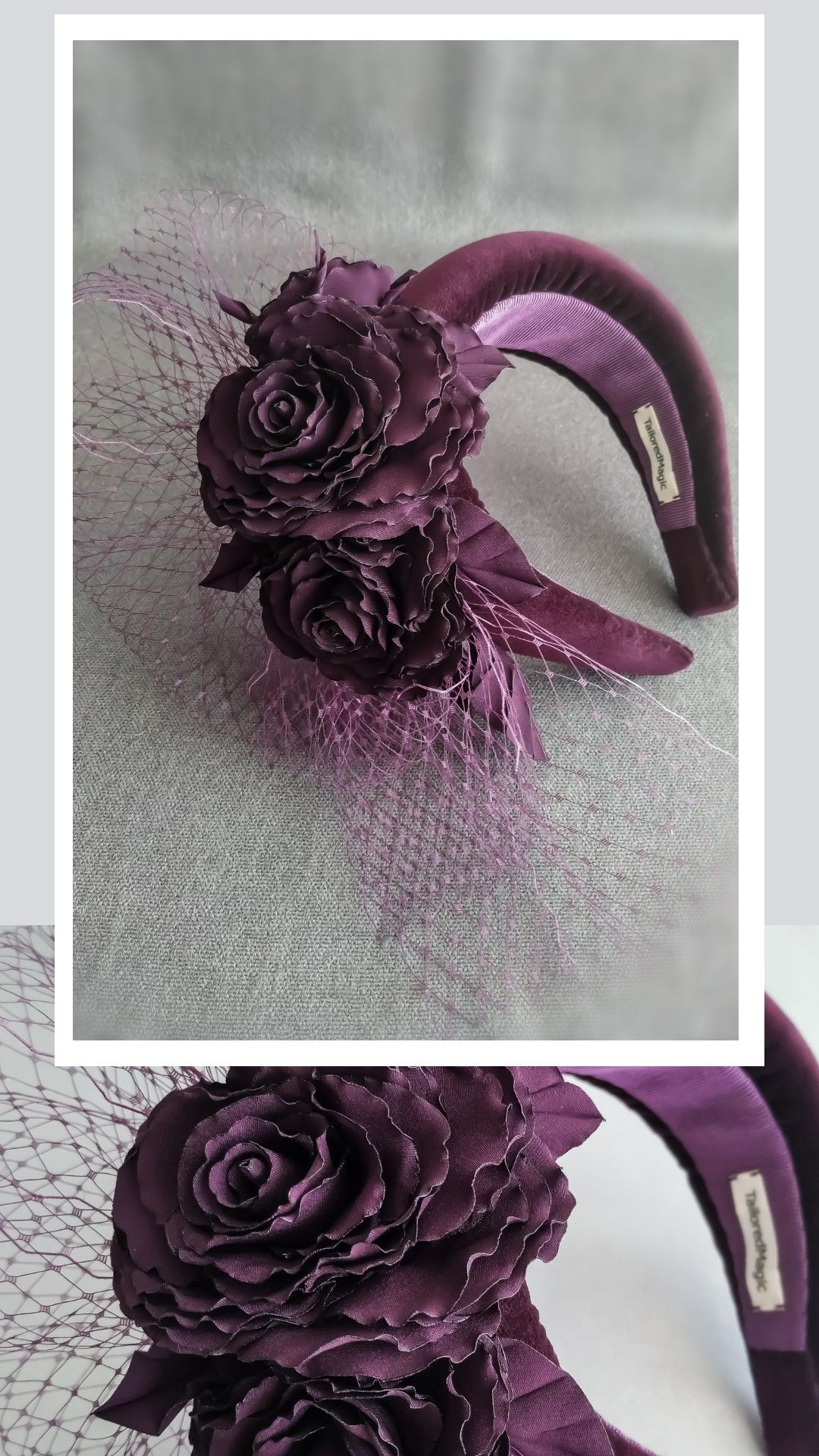 Flower halo headband by TailoredMagic, free shipping worldwide. Floral halo headpiece