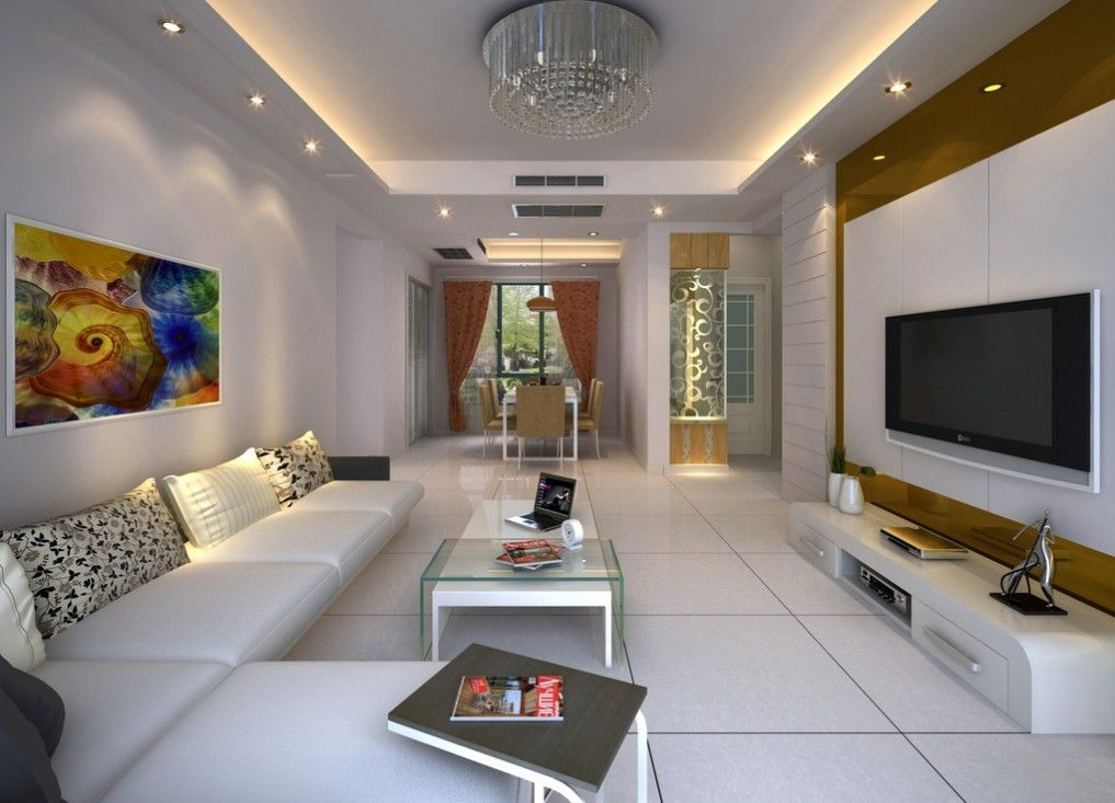 good interior design for home%0A Ceiling Wall Lamps Beige Living Room Interior Design  D Interior