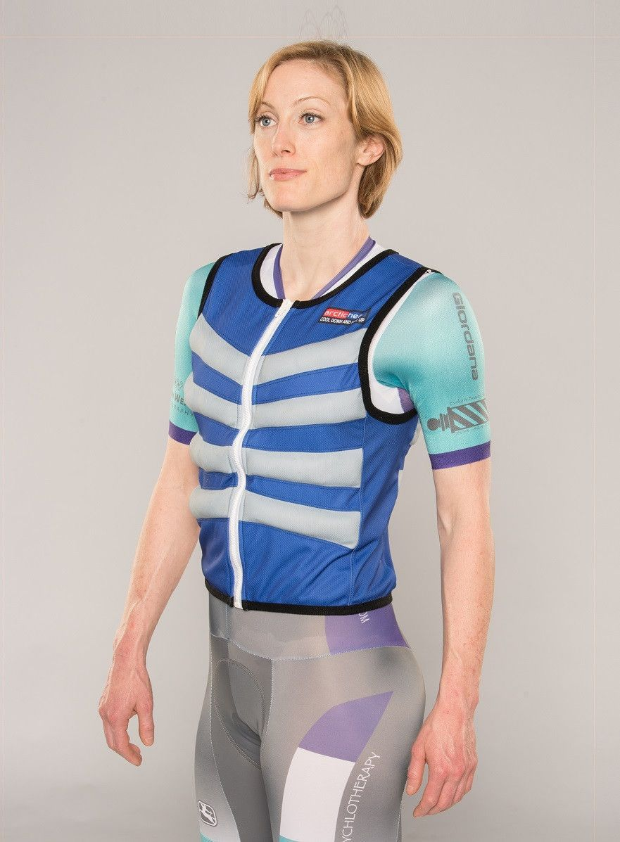 Body Cooling Vest Blue Ice Vest Winter Words Vest