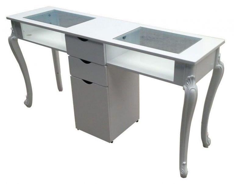 2019 double white beauty station nail desk manicure bar table rh pinterest com