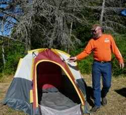 The 60 Second Tent is the best invention ever for Motorcycle Camping